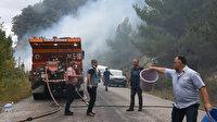 Sinop'ta bir vatandaş otları temizlemek isterken ormanı yaktı