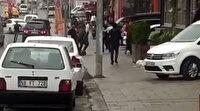 Arnavutköy'de iki grubun bıçaklı sopalı meydan savaşı kamerada