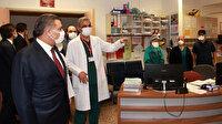 Bakan Koca, saldırı girişimine uğrayan sağlık çalışanlarını ziyaret etti