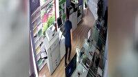 4.2'lik deprem anı Kocaeli'de bir iş yerinin güvenlik kamerasına yansıdı