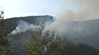 Eskişehir'de alev alan araç orman yangınına neden oldu