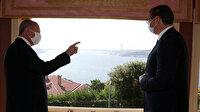 Cumhurbaşkanı Erdoğan, Vahdettin Köşkü'nde Vucic ile görüştü