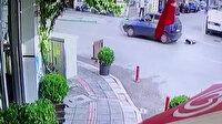 Bursa'da hayrete düşüren olay: Küçük çocuk, seyir halindeki otomobilin açılan kapısından düştü
