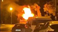 Isparta'da park halindeki kamyon alev alev yandı