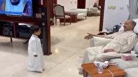 Hayatını kaybeden Kuveyt emirinin torunuyla birlikte son görüntüsü