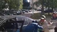 Otomobili sahibinin önünde çalmaya kalktı, kaza yapınca yakalanıp dayak yedi