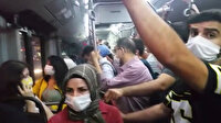 Taksim otobüsünde balık istifi yolculuk: Sosyal mesafe yine unutuldu