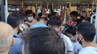 İstanbul'da son iş gününde sosyal mesafe unutuldu: Tramvayda tepki çeken yoğunluk