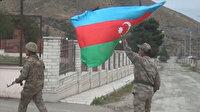 26 yıl sonra Ermenistan işgalinden kurtulan Talış köyünde Azerbaycan bayrakları dalgalanıyor