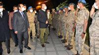 İçişleri Bakanı Soylu Şırnak'ta: Faraşin Üs Bölgesi'nde Mehmetçikle bir araya geldi