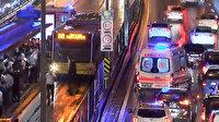 İstanbul'da iki metrobüs çarpıştı: Bölgede araç kuyruğu oluştu