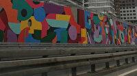 İBB'nin yol kenarlarına, 'dikey bahçe yerine grafiti' çalışması tartışmaya yol açtı