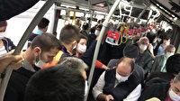İstanbul'da metrobüsler yine tıklım tıklım: Sosyal mesafe kuralı yine yok sayıldı