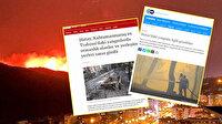 PKK diyemediler: BBC Türkçe ve DW yangınların failini görmezden geldi