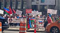 Ermeniler destek konvoyu yapan Azerbaycanlılar ve Türklere ait araçlara taşlarla saldırdı