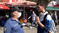 Maskesini takmayan gençten polise ilginç cevap: Nefes almak en doğal hakkımız