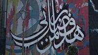 Usta hattatın en önemli eseri grafiti ile Trabzon'u süsledi