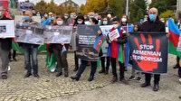 İsviçre'de Türkler toplanıp Ermenistan'ın sivillere düzenlediği kalleş saldırıyı protesto etti