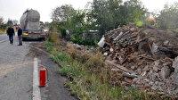 Tekirdağ'da beton mikseri eve daldı, vatandaşlar dehşeti yaşadı