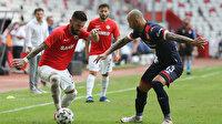 Dört kırmızı kartın çıktığı maçta Antalyaspor ile Gaziantep FK berabere kaldı: 1-1