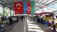 Tokat'ta pazarcı esnafından Azerbaycan için dua