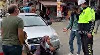 Aksaray'da yaşlı teyzeye çarpan sürücü, kadını azarladı