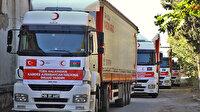 Türk Kızılay'ı Azerbaycan'a yardım gönderiyor: İkinci kez 4 tırlık yardım konvoyu yola çıkıyor