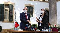 KKTC'nin yeni Cumhurbaşkanı Ersin Tatar mazbatasını aldı