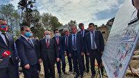 TBMM Başkanı Şentop, Azerbaycan'da bombalanan bölgeyi ziyaret etti