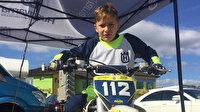 Minik yetenek Efe Okur, Bulgaristan'daki motokros şampiyonasında üçüncü oldu