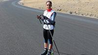 Ağrılı sporcu Seher, tekerlekli kayaklarıyla Türkiye'yi yurt dışında temsil etmeye hazırlanıyor