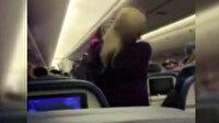 ABD'de yolcu uçağında maske takmayan kadın, hostese saldırdı