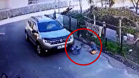 Bartın'da yol kenarındaki çocuğun bisikletini ezen sürücü güvenlik kamerasında