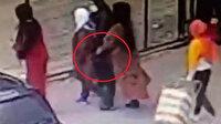 Bursa'da hemşirenin çantasındaki cep telefonunun çalınma anı kamerada