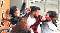 Kendisi için kavga eden 3 kızın arasında kalan genç adam zor anlar yaşadı