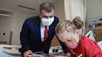 Bakan Koca'dan Şehir Hastanesinde tedavi gören hastalara geçmiş olsun ziyareti