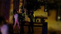 Kadıköy'de alkollü kadın sürücü, yüzünü tırmaladığı polise bardak fırlattı