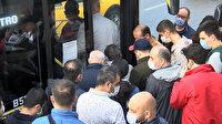 İstanbul'da toplu ulaşımdaki yoğunluk dikkat çekti
