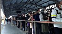 İstanbul'da duraklar insan doldu: Metrobüslerde tıka basa yolculuk yapıldı