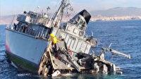 Yunan donanmasının içler acısı hali: Mayın avlanma gemisi aldığı bir darbe ile paramparça oldu