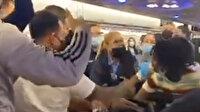 Porto Riko'da maske takmayı reddeden kadın, yolcu uçağını birbirine kattı