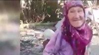 85 yaşındaki Hatice Teyze belediye görevlilerinden sadece Türk bayrağı istedi