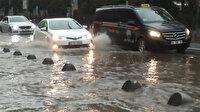 İstanbul şiddetli yağışa teslim oldu: Büyükçekmece, Eyüp ve Karaköy'de alt geçitleri su bastı