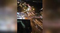 Fransa'da trafikteki OHAL yoğunluğu drone'la görüntülendi