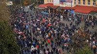 Minsk'te sokaklar karıştı: Polisler göstericilere müdahalede bulunarak gözaltına aldı