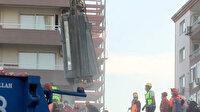 Rıza Bey apartmanında ikisi çocuk üç kişiye mezar olan asansör böyle çıkarıldı