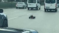 14 bin liralık oyuncakla trafiğe çıktı, ehliyetine el konulup gözaltına alındı