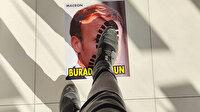 İslam düşmanı Macron'un fotoğrafını sosyal mesafe işaretlemelerine yapıştırdı: Tepkimizi gösterdik