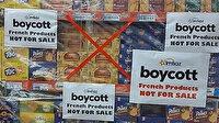 """Pakistan halkı Fransız ürünlerini boykot ediyor: Fransız ürünlerine """"satılık değildir"""" notu düşüldü"""