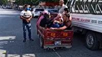 Adana'da şaşırtan görüntü: Elektrikli bisikletinin sepetinde balık istifi yolcu taşırken polis ekiplerine yakalandı